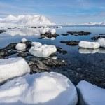 Arctic winter landscape - Spitsbergen, Svalbard — Stock Photo #70461187