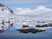 Arctic winter landscape - Spitsbergen, Svalbard — Stock Photo