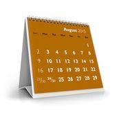 August 2015 Calendar — Stock Photo