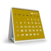 July 2015 Calendar — Stock Photo