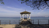 Romantic Gazebo at Lake Constnace — Stock Photo