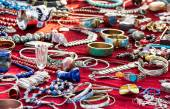 Ethno Jewelry on a Flea Market — Stock Photo