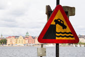 Swedish Danger sign — Stock Photo