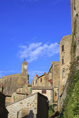 Small Tuscany Village On Cliff — Stock fotografie