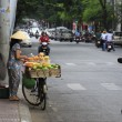 A Vietnamese female fruit seller in the old town of Ho Chi Minh — Stock Photo #57593579