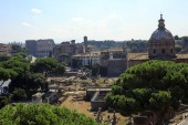 Trajan's Forum in Ancient Rome, Italy — Stockfoto