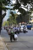 Chaotic traffic in Saigon, Vietnam — Foto de Stock