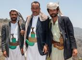 Armed men in Yemen — Stock Photo