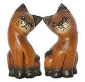 Dwa koty drewna — Zdjęcie stockowe