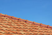 Sky and roof at home — Stock Photo