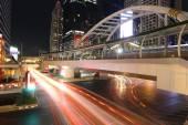 BANGKOK, THAILAND -JUNE 8, 2015 : Night light at Chong Nonsi sky — Stock Photo