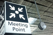 Meeting point sign at the airport — Stock Photo
