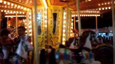 Merry Go Round illuminated — Stock Video