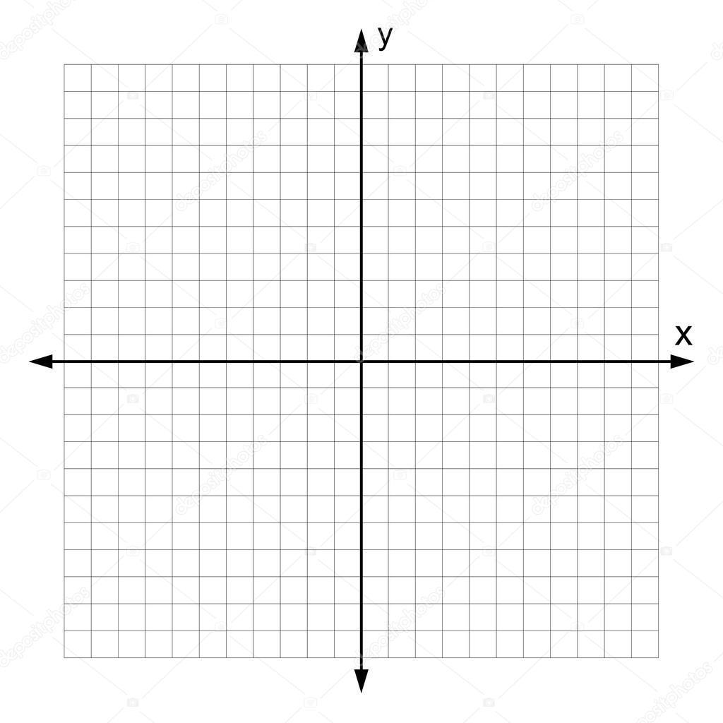 Kartesisches Koordinatensystem Vektor Stockvektor
