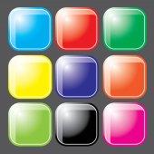 Vector botón brillante — Vector de stock