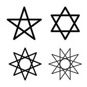 星のシンボル ベクトル — ストックベクタ