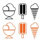 Ice cream set vector — Stock Vector