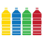 Colored bottle  set vector — Stock Vector