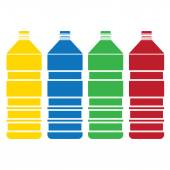 Colored bottle  set vector — Vetorial Stock