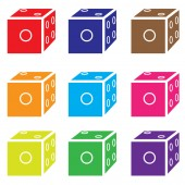 Dice colored set vector — Stock Vector