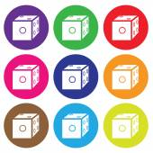 Dice icon color set vector — Stock Vector