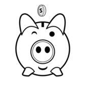 Piggy bank vector — Stock Vector