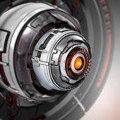 Conceptual electronic cyber eye — Stock Photo