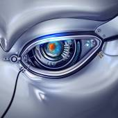 Futuristic cyber eye — Stock Photo