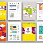 Set of Flyers, Brochure Design Templates — Stock Vector #70414815