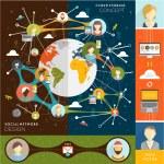 Social Network Concept — Stock Vector #70416081