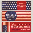 American Flag Banners Set — Stock Vector #70416735