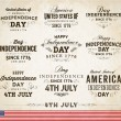 Set of Independence Day Labels — Stock Vector #70418497