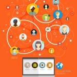 Social Network  Concept — Stock Vector #70418723