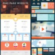One Page Website Design Template — Stockvector  #70419619