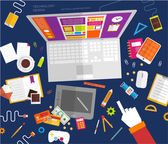 Digital Art and Gadgets — Stock Vector