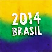 Brazil Summer 2014 Background — Stock Vector