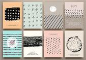 Conjunto de cartões criativos vintage — Vetor de Stock