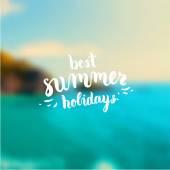 Best Summer Holidays — Stock Vector