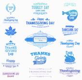 Set of Thanksgiving Day Labels — Stock Vector