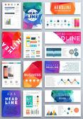 Set of Flyer, Brochure Business Templates. — Stock Vector