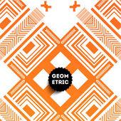 Abstract Orange Geometric Pattern — Stock Vector
