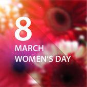 International Women's Day Card — Stock Vector