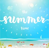 Summer Time Label — Stock Vector