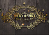 Christmas typographic label — Stock Vector