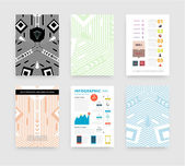 Infographic with Abstract Geometric Patterns — Vetor de Stock