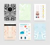 Infographic with Abstract Geometric Patterns — Wektor stockowy