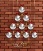 Christmas Balls and Stars. — Stock Vector
