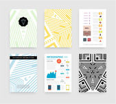 Infographic with Abstract Geometric Patterns — ストックベクタ
