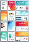 Set of Flyer, Brochure Business Templates. — Stok Vektör