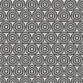 Seamless black-and-white pattern with circles — Stock Vector